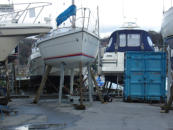 Antifouling In Progress - 25th Feb 2007